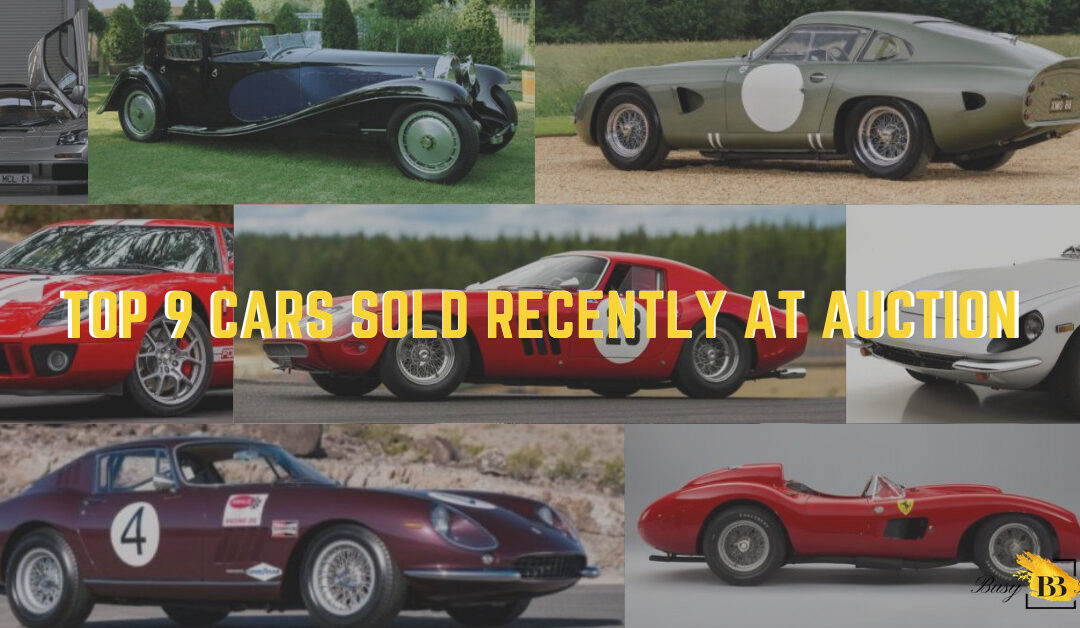 Top 9 Cars Sold Recently at Auction